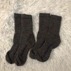 Smartwool Gray Hiking Crew Socks MD